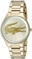 Lacoste Women's 2000930 Valencia Analog Display Japanese Quartz Gold Watch