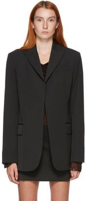 Nensi Dojaka SSENSE Exclusive Black Oversized Cadi Blazer