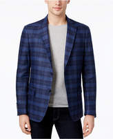 Calvin Klein Men's Slim-Fit Plaid Linen Sport Coat