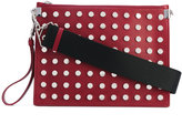 Versace large studded clutch bag - women - Calf Leather - One Size