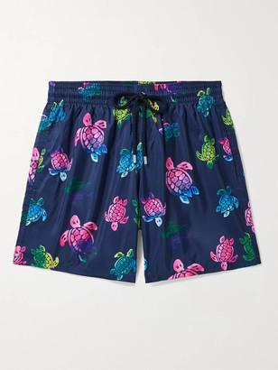 Vilebrequin Mahina Mid-Length Printed Swim Shorts - Men - Blue
