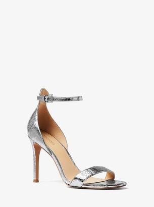 MICHAEL Michael Kors Harper Metallic Snakeskin Sandal
