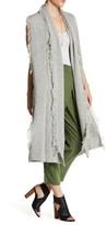 Ella Moss Fringe Knit Sleeveless Duster