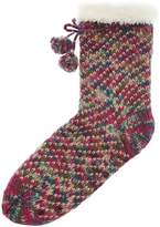 totes Sparkle slipper sock with sherpa lining