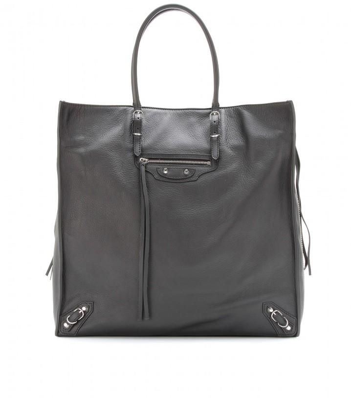 Balenciaga Papier Ledger leather tote