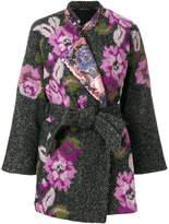 Ermanno Gallamini floral cape coat