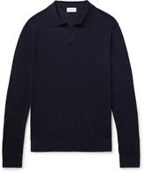 Club Monaco Johnny Merino Wool, Silk And Cashmere-blend Sweater - Midnight blue