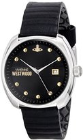 Vivienne Westwood Men's VV080BKBK Bermondsey Stainless Steel Watch with Black Leather Band