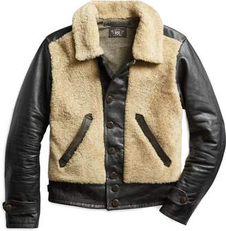 Ralph Lauren Shearling-Leather Moto Jacket