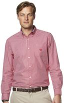 Chaps Big & Tall Striped Easy-Care Poplin Shirt