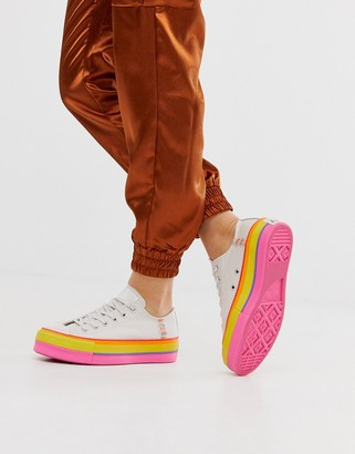 Converse Chuck Taylor Ox Platform Rainbow Sneakers