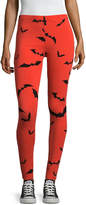 City Streets Halloween Bat Legging