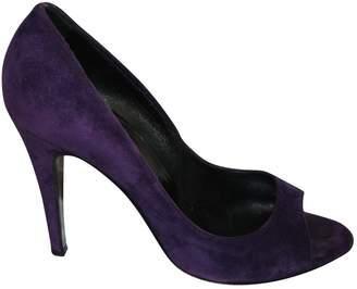Pierre Hardy Purple Suede Heels