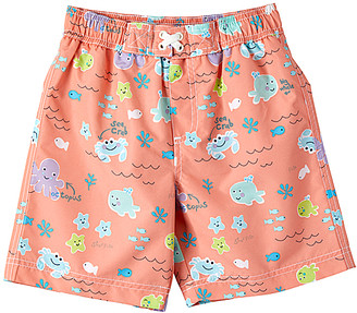 Trunks Wippette Boys' Board Shorts SOFT - Soft Peach Sea Creatures Swim Infant & Toddler