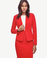 Ann Taylor Seamed Crepe Jacket