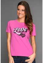 Life is Good Love You Heart Crusher Tee (Hot Fuchsia) - Apparel