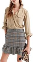 J.Crew Women's Ruffle Houndstooth Miniskirt