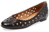 French Sole Village Cut-Out Leather Ballet Flat