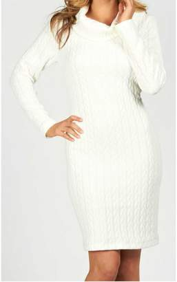 Frank Lyman White Sweater Dress