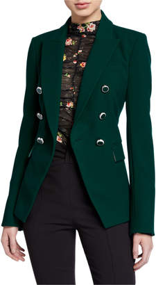 Veronica Beard Miller Dickey Jacket with Enamel Buttons