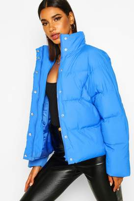 boohoo Funnel Neck Puffer Jacket With Pockets