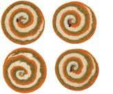 Lene Frantzen with ZigZign - Slice Coaster - Set of 4 - Orange