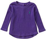 Ralph Lauren Baby Girls 3-24 Months Waffle-Knit Top