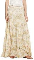 Denim & Supply Ralph Lauren Floral Gauze Tiered Maxiskirt