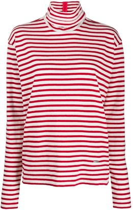 DSQUARED2 Striped Roll Neck Top