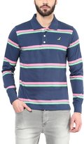 American Crew Men's Polo Collar Stripes T-Shirt -XXL (AC059FS-XXL)