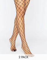 Asos 2 Pack Oversized Fishnet Tights