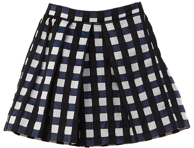 Thumbnail for your product : Oscar de la Renta Gingham Jacquard Skirt