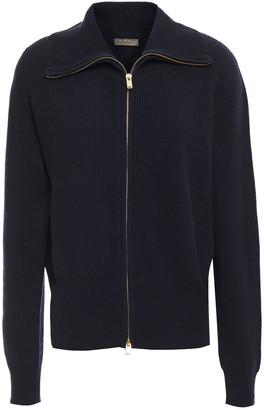 N.Peal Ribbed Wool And Cashmere-blend Cardigan