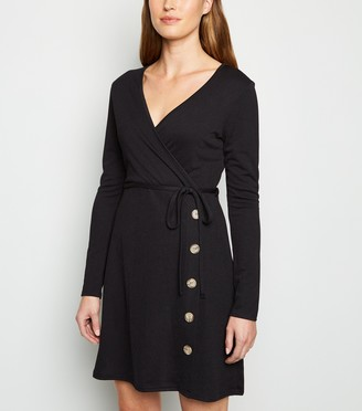 New Look Cameo Rose Side Button Wrap Dress