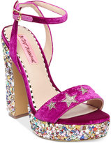 Betsey Johnson Kenna Platform Block-Heel Sandals