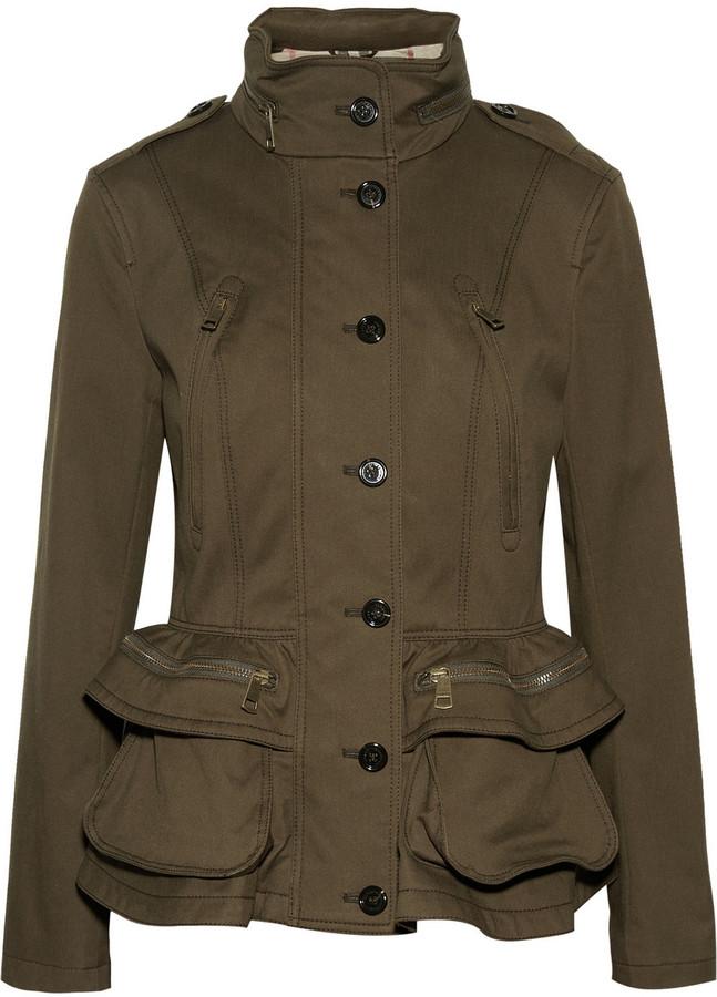 Burberry Cotton-blend peplum jacket