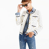 J.Crew Collection polka-dot lady jacket with ruffle chiffon trim