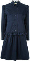 Burberry ruffle trim shirt dress - women - Cotton - 12