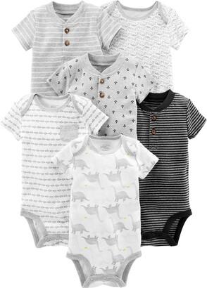 Simple Joys by Carter's Baby Boys 6-Pack Short-Sleeve Bodysuit