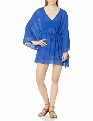 La Blanca Women's V-Neck Butterfly Tunic Swimsuit Cover Up