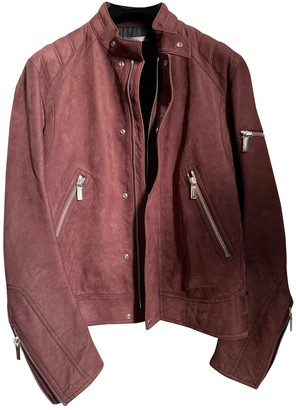 Christian Dior Burgundy Suede Jackets