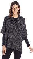 Splendid Women's Tri-Blend Cowl Neck Poncho Sweatshirt