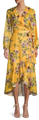 Ava & Aiden Floral Ruffled Wrap Dress