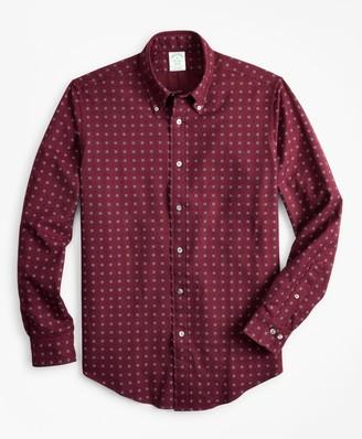 Brooks Brothers Milano Fit Foulard Print Flannel Sport Shirt