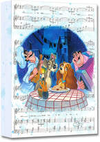 Disney Lady and the Tramp ''Bella Notte'' Giclée on Canvas by Tim Rogerson