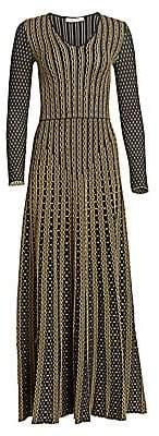 Roberto Cavalli Women's Textured Knit A-Line Maxi Dress