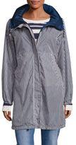 Max Mara Lucca Stripe Long Raincoat