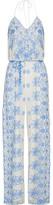 Miguelina Bianca Crocheted Cotton-lace Jumpsuit - Sky blue