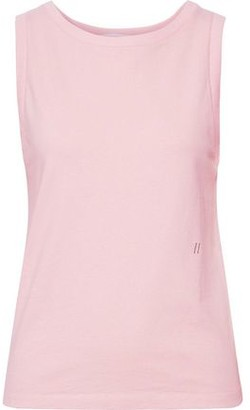 Helmut Lang Embroidered French Cotton-terry Tank