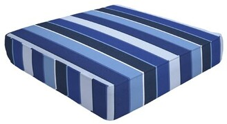 "Eddie Bauer Double Piped Indoor/Outdoor Sunbrella Ottoman Cushion Size: 5"" H x 24"" W x 24"" D"